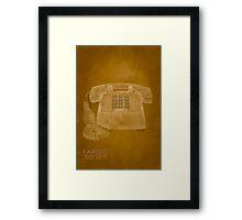 Fargo Telephone Lorne Malvo Framed Print