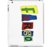 Fargo Blackmail Letter Ransom Note iPad Case/Skin