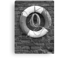 Canal Lifesaver Canvas Print