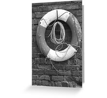 Canal Lifesaver Greeting Card