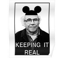 Baudrillard - Keeping it real Poster