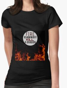 Fire and Dragons Womens Fitted T-Shirt
