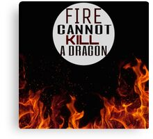 Fire and Dragons Canvas Print