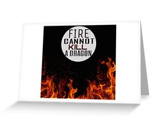 Fire and Dragons Greeting Card