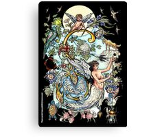 """The Illustrated Alphabet Capital  S  """"Getting personal"""" from THE ILLUSTRATED MAN Canvas Print"""