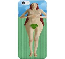 Lying on grass iPhone Case/Skin