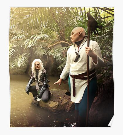 Solas and Lavellan Cosplay Poster