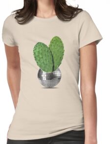 Cactus disco party Womens Fitted T-Shirt