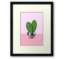 Cactus disco party Framed Print