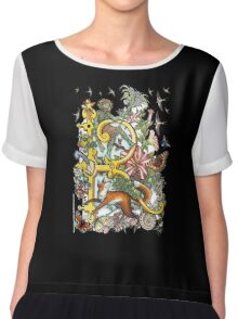 "MYSTICMATRIX The Illustrated Alphabet Capital  R  ""Getting personal""  Chiffon Top"