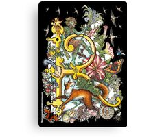 """The Illustrated Alphabet Capital  R  """"Getting personal"""" from THE ILLUSTRATED MAN Canvas Print"""