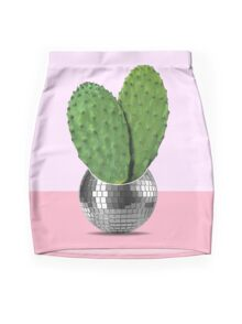 Cactus disco party Mini Skirt