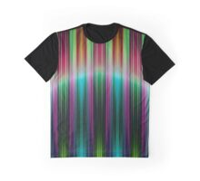Colourful speed stripes pattern Graphic T-Shirt