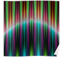 Colourful speed stripes pattern Poster