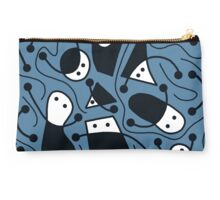 Playful abstract art - blue  Studio Pouch