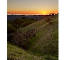 Pacific Ocean from Russian Ridge Photographic Print