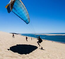 Paragliding (ii) by TonySkerl Photography