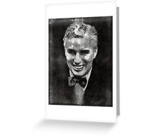 Charlie Chaplin Classic Hollywood Greeting Card