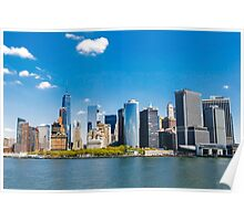 New York City panorama Manhattan Skyline Poster