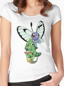 Caterpie Becoming Women's Fitted Scoop T-Shirt