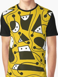 Playful abstract art - yellow Graphic T-Shirt