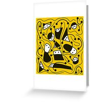 Playful abstract art - yellow Greeting Card