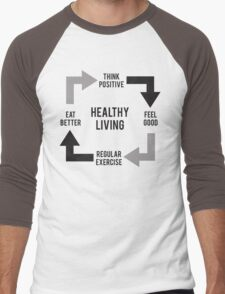 Healthy Living - Diagram Men's Baseball ¾ T-Shirt