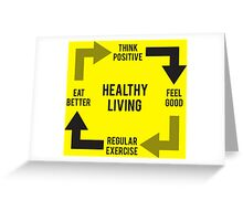 Healthy Living - Diagram Greeting Card