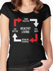 Healthy Living - Diagram Women's Fitted Scoop T-Shirt