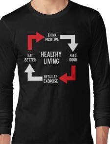 Healthy Living - Diagram Long Sleeve T-Shirt