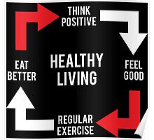 Healthy Living - Diagram Poster