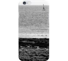 Seagulls rest in black and white iPhone Case/Skin