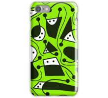 Playful abstract art - green iPhone Case/Skin