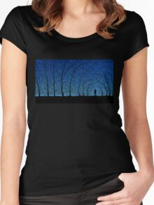 trees people Women's Fitted Scoop T-Shirt