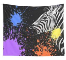 SAFARI COLORS POP - ZEBRA Black Edition Wall Tapestry