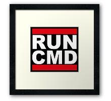 Run CMD Framed Print