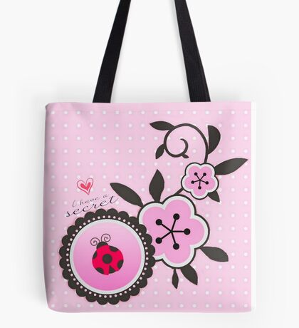 Miraculous Ladybug / Marinette Dupain-Cheng - Pink polka dot flower design Tote Bag