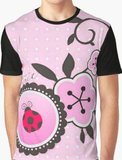 Miraculous Ladybug / Marinette Dupain-Cheng - Pink polka dot flower design Graphic T-Shirt