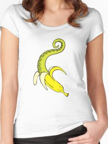 Banana Squid Women's Fitted Scoop T-Shirt