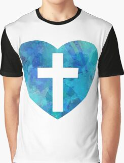 Heart And Cross Graphic T-Shirt
