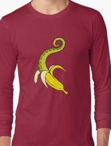 Banana Squid Pink Long Sleeve T-Shirt