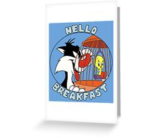 Hello Breakfast  Greeting Card