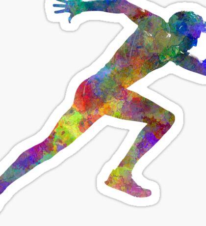Man running sprinting jogging Sticker