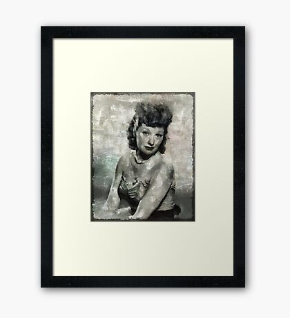 Lucille Ball Hollywood Actress Framed Print