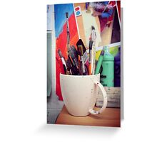 Still Life with Brushes Greeting Card