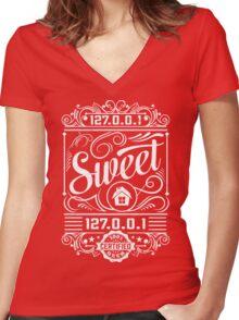 Home Sweet Home - Geek Talk Women's Fitted V-Neck T-Shirt