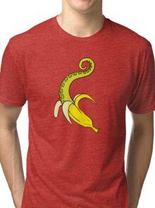Banana Squid Blue Tri-blend T-Shirt