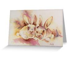 Bunny pals Greeting Card