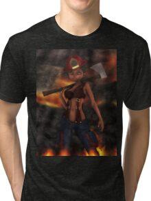 Big Head Betty 5  Tri-blend T-Shirt
