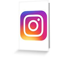 New Instagram Logo Greeting Card